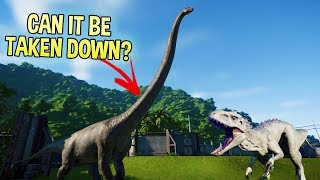Jurassic World Evolution - T Rex vs Indominus Rex - Can The Largest Dinosaur Be Taken Down?