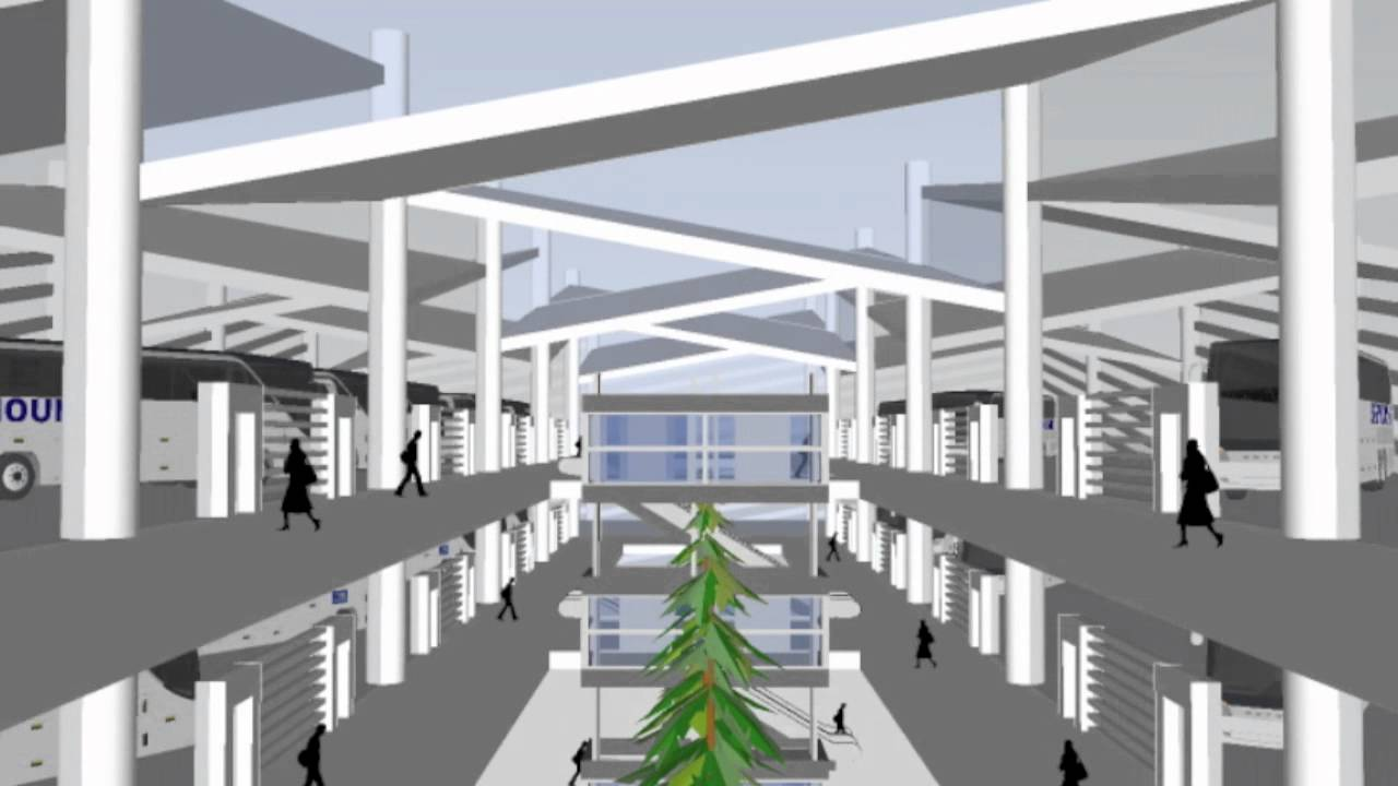 Google SketchUp - Port Authority Bus Terminal - YouTube