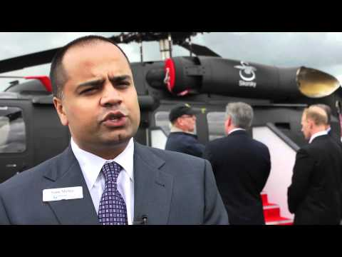 Sam Mehta, President of Sikorsky Military Systems, discusses S-70i BLACK HAWK at Farnborough Airshow