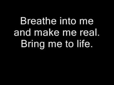 Evanescence - Wake Me Up Inside (bring Me To Life) W  Lyrics video