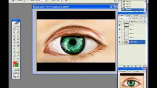 Realistic Eye in Photoshop (speed drawing)