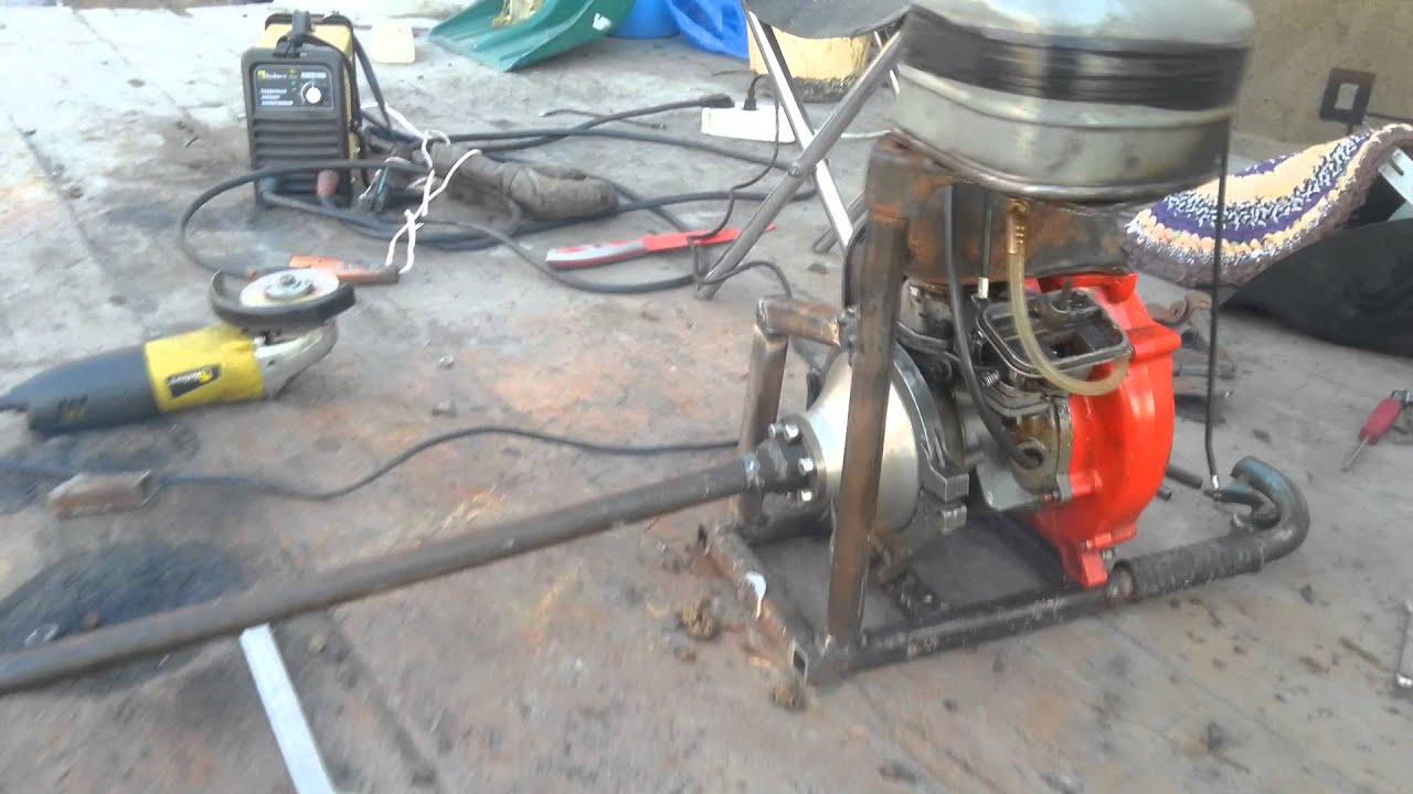 Самодельный лодочный мотор из бензопилы Сделай Сам www 77