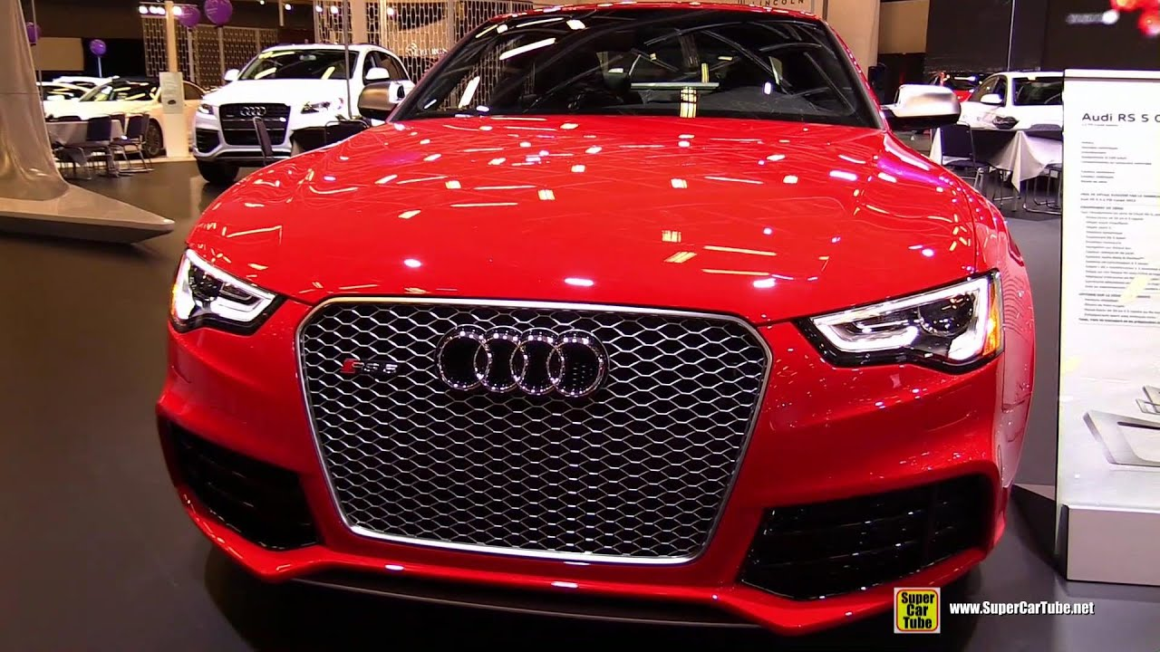 2015 audi rs5 coup exterior and interior walkaround