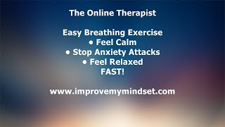 Easy Breathing Exercise For Anxiety, Calm & Well-being - Best Online Therapist - Breathing Exercise