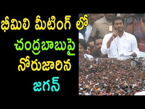 YS Jagan At Public Meeting Bheemili satirical Comments On Chandrababu Scams TDP Ap | Cinema Politics