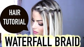 How to: waterfall braid | step by step | valerie pac