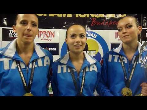 Interview Italy Kata Team Female. Gold Medal. 48th European Karate Championships