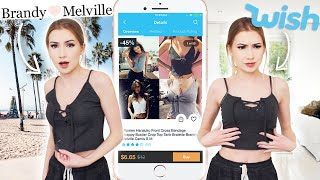 "I Tried Wish.Com ""Brandy Melville"" Clothing!! BrandyMelville VS. Wish.. who did it better?!"