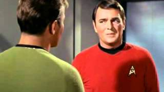 Kirk & Scotty after the fight with Klingons