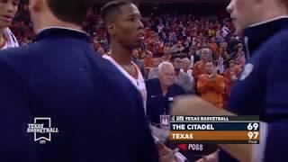 Texas Men's Basketball vs Citadel LHN Highlights [Nov. 16, 2018]