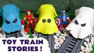 Thomas and Friends Pranks with Play Doh Avengers and Tom Moss The Prank Engine TT4U