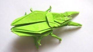 Origami 'ground Beetle' By John Montroll (part 1 Of 3)
