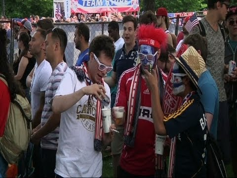Raw: World Cup Fans at Grant Park in Chicago