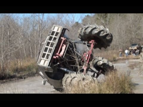 COMPLETELY ROLLS!! GIANT GMC 4x4 MUD TRUCKS on TRACTOR TIRES at SABINE RIVER RATS! Music Videos