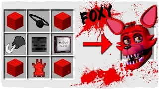 Minecraft FNAF - How to Summon FOXY in a Crafting Table!
