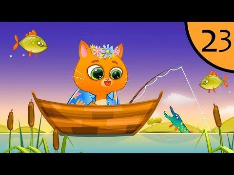 Суровый КОТИК БУБУ #23. Рыбалка. Мультик ИГРА про котят на Игрули TV