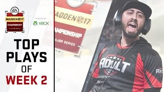 Madden 17 Championship | Best Plays of Week 2 |