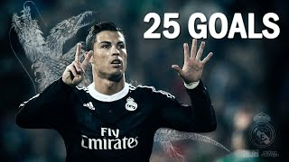 Cristiano Ronaldo ►All 25 Goals | La Liga | 2014/15 HD
