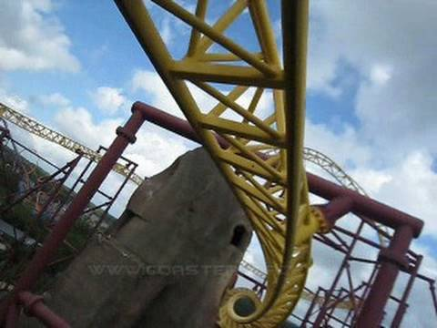 Volcano - The Blast Coaster Front Seat on-ride POV Kings Dominion