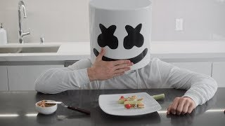 Cooking with Marshmello: Reindeer Celery Sticks