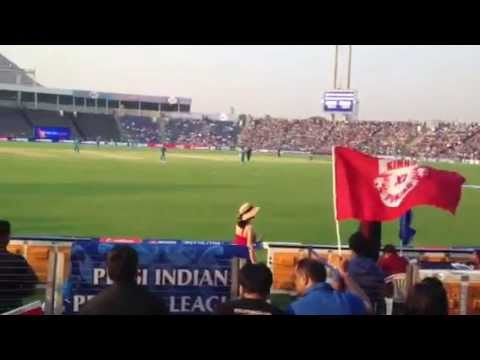 Preity Zinta Looking Pretty In A Cool Red Dress In Ipl Match 2013 video