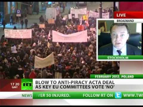 Falkvinge: ACTA dealt three heavy blows in Europe