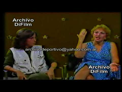 Madre y hermana de Ricardo Darin con Ruben Aldao - Alejandra Darin y Renee Roxana DiFilm (1984)