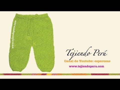 Pantalón para bebé tejido en crochet o ganchillo