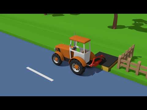Fairy tales about Tractors | Tractor Mounted Rotary Mower | Bajka Traktory - Kosiarka