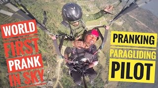 World First Prank On Sky (Paragliding Pilot got Pranked)