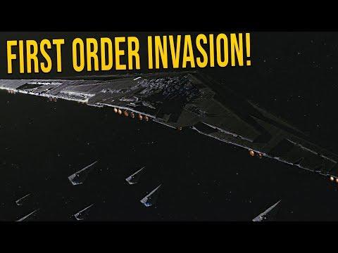 First Order INVASION FLEET! - Star Wars Empire at War [Yoden Mod]