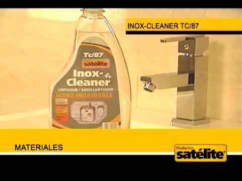 Liquido para limpiar estufas de acero inoxidable