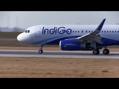 First IndiGo Airbus A320 with Sharklets Landing and TakeOff