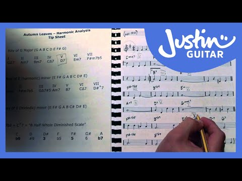 Jazz Standard: Autumn Leaves - Harmonic Analysis (Guitar Lesson JA-522)