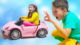 ALİ ADRİANAYLA OYUNCAKLARI PAYLAŞAMADI Kids Pretend Play with New Magic Toys and Ride on Cars