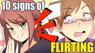 10 SIGNS OF FLIRTING FOR WOMEN | Animation