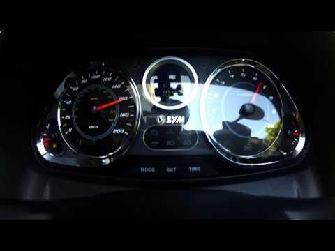 2014 Sym MaxSym 600i ABS Sport 0-160 km/h