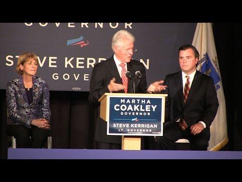 Bill Clinton rallies for Martha Coakley