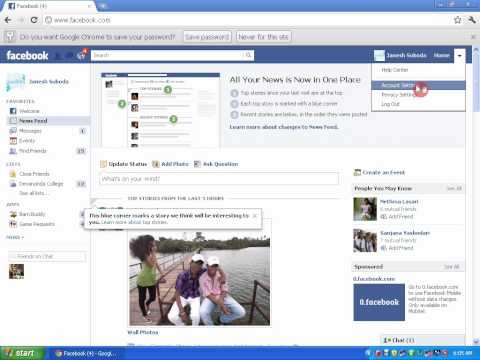 how to change your facebook account password