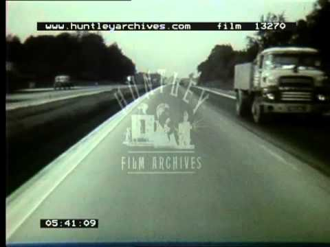 M1 motorway and other roads in the 1960's and 1970's.  Film 13270