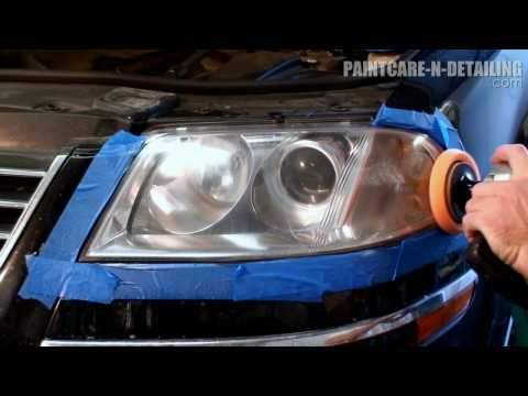Headlight Restoration - Wetsanding and Polishing HD