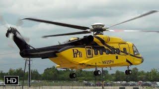 HUGE Sikorsky S-92 Taking Off from Houma LA
