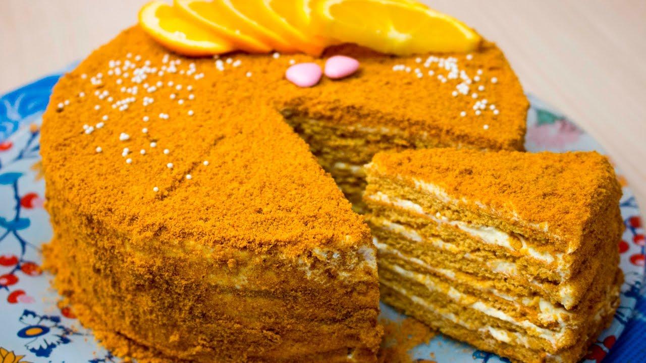 Торт с апельсиновым кремом рецепт