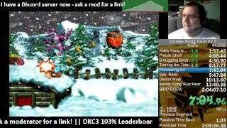 Donkey Kong Country 3 103% Speed Run - 1:37 IGT / 2:03:53 RTA