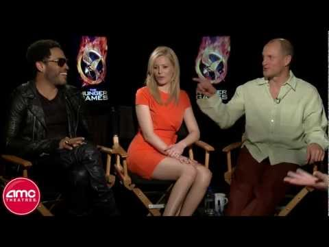 The Hunger Games: Woody Harrelson (Haymitch), Elizabeth Banks (Effie) And Lenny Kravitz (Cinna)