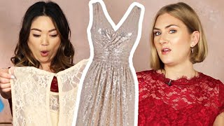Women Try Amazon Bridesmaid Dresses