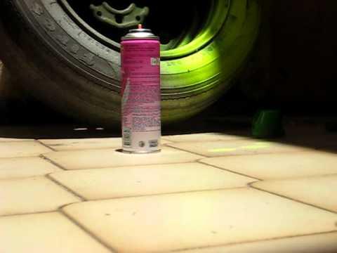 Espingarda carabina Rossi Dione 4.5 x vs latinha de spray