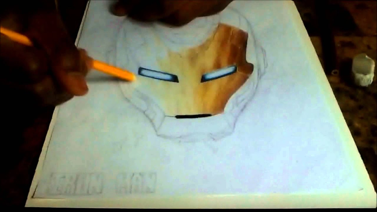Ironman Helmet Drawing Iron Man Custom Helmet Drawing