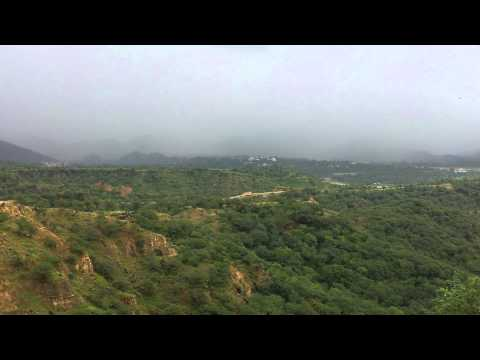 Rainy weather In Azad Kashmir Mirpur Pakistan part 2  Full HD