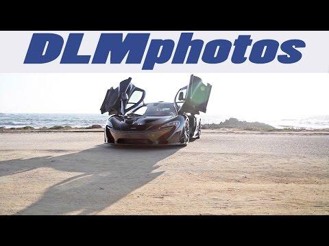 Black McLaren P1 by the Beach Videoshoot - Monterey Auto Week 2015